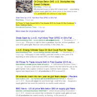 Google Search- Oil Production Glut, Jan 13th 2015