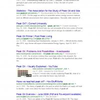 Google Search- Peak Oil 1-1-08 thru 7-11.08