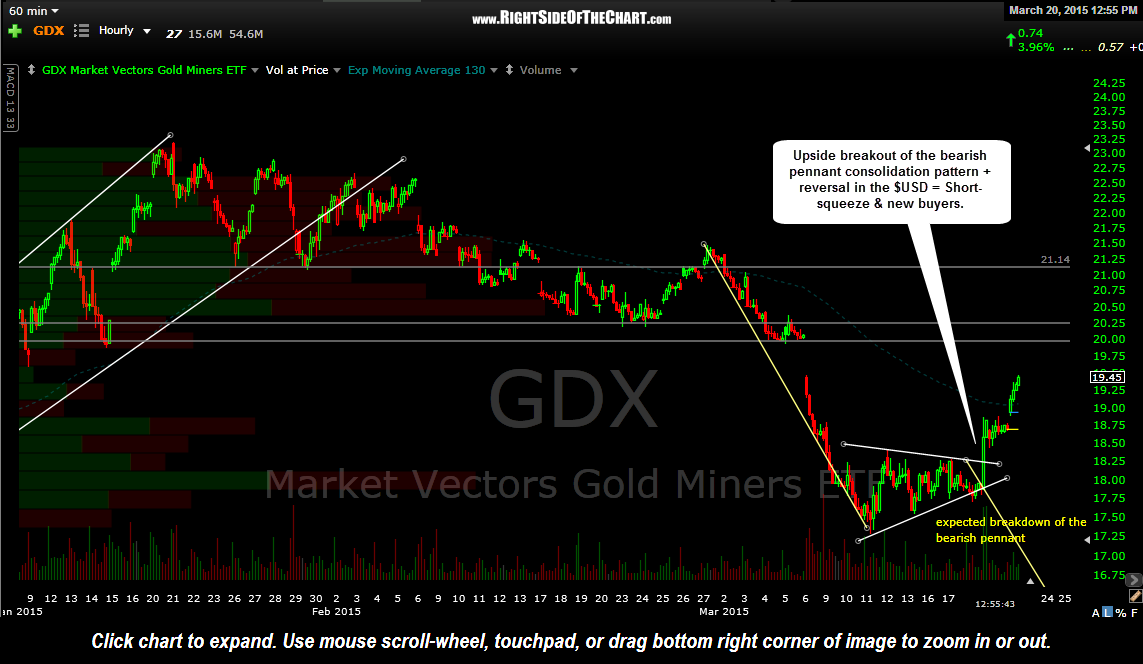 GDX 60 minute March 20th